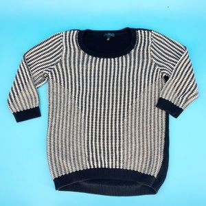 The Limited | Black & White Knit Sweater